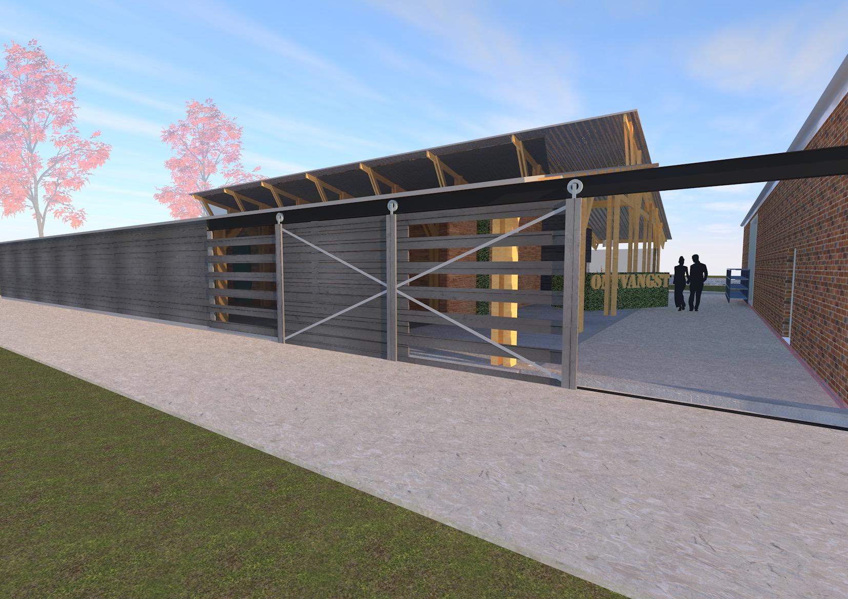 giesen transformatie herbestemming renoveren bouwen schuur ligboxenstal veldhunten Doetinchem Achterhoek houtskelet ecologische architect architectuur groen landelijk
