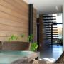 giesen bouwen Doetinchem Achterhoek herbestemming renovatie hout constructie ecologische architect architectuur groen modern strak design biobased duurzaam verantwoord woonhuis trap zwevend
