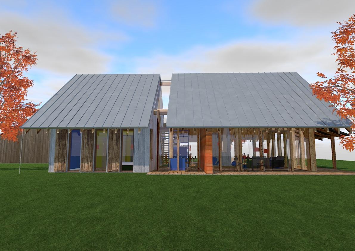Een ontwerp voor een gebinten schuurwoning dat past binnen het landelijke beeld van Winterswijk. Gelijkvloers; met een prachtige houten gebint constructie. Een mooie grote leefruimte waarin in het ontwerp knusse hoeken zijn gemaakt om je in terug te trekken.