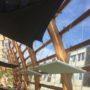 Prakticon glasstube giesen doetinchem beeldenkas houtenkas kas van hout plantenkas van hout