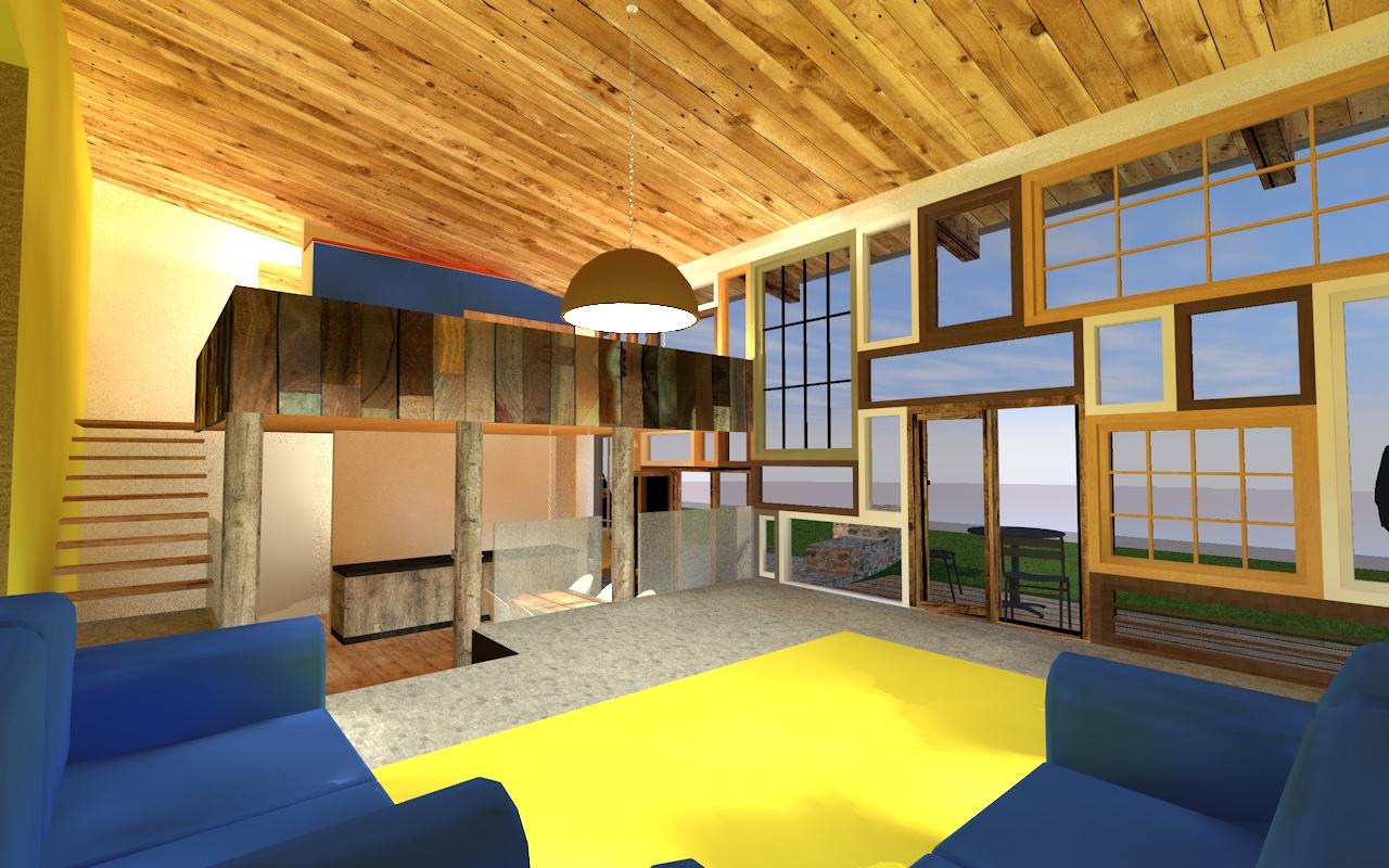 leiner huis Achterhoek is een mooi ontwerp om minder groot te bouwen in de Achterhoek, een compact maar volledig woonhuis opgebouwd uit ecologische en hergebruikte materialen.